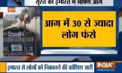Breaking: Massive fire breaks out at building in Surat