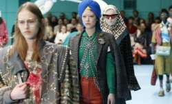 Models displaying for Gucci's women's Fall/Winter 2018-2019