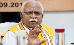 Chief Minister Manohar Lal Khattar