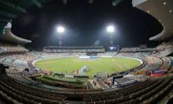 A giant pink balloon was also released at the Eden Gardens