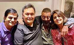 Sanjay Dutt makes Rishi and Neetu Kapoor happy as he pays them a visit