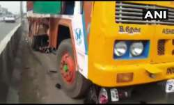 Tamil Nadu woman hit by truck while trying to avoid falling