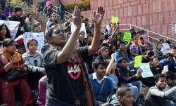 JNU hostel fee hike protest