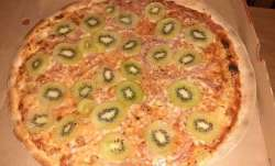 As the photo showed, the standard pizza base was freckled