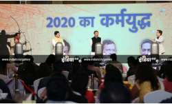 (From left) SDPI's Tasleem Rehmani, BJP's Shahnawaz Hussain and Congress' Rashid Alvi during India T