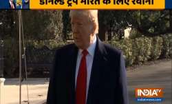 US President Donald Trump on his departure to India (India