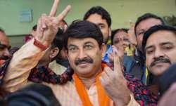 A file photo of Delhi BJP chief Manoj Tiwari