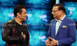 Rajat Sharma and Salman Khan engage in a fun chat in Bigg