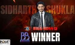 Sidharth Shukla is the winner