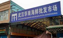 The Wuhan Huanan Wholesale Seafood Market, where a number
