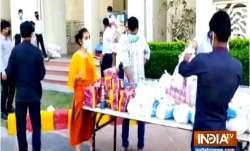 Housing society in Noida donates ration to staff amid coronavirus lockdown