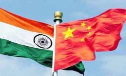 Representational image showing Indian and Chinese flags
