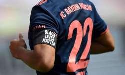 Bayern Munich players wearing #BlackLivesMatter armbands