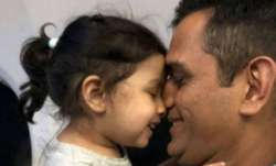 Ziva with father MS Dhoni