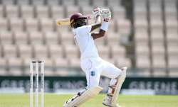 Jermaine Blackwood of the West Indies during day five of