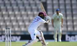 Jermaine Blackwood of the West Indies bats during day five