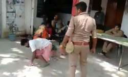 UP Police constable suspended for beating physically-challenged man