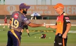 Live Score Kolkata Knight Riders vs SunRisers Hyderabad, IPL 2020: Warner opts to bat against KKR