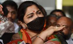 BJP leader Khushbu Sundar detained during protest against