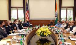 Defence Minister Rajnath Singh meets US Defence Secretary Mark Esper