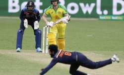 Australia's Steve Smith watches as India's Ravindra Jadeja