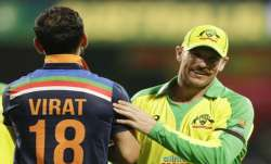 Virat Kohli and Aaron Finch