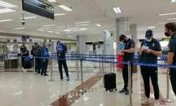 England players Chennai airport