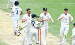 ajinkya rahane, ajinkya rahane wicket, mitchell starc, india vs australia, india vs australia 2021,