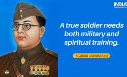 Inspirational quotes by Netaji on Parakram Diwas