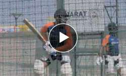 Virat Kohli at the nets ahead of the 4th Test