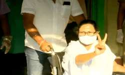 Chief Minister Mamata Banerjee after casting her vote in