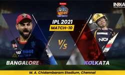 Live Score RCB vs KKR IPL 2021: Live Updates from Chennai