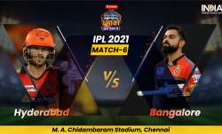 Live Cricket Score, IPL 2021, Match 6, SRH vs RCB: Follow Live score and updates from Chennai