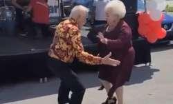 Elderly couple, dance