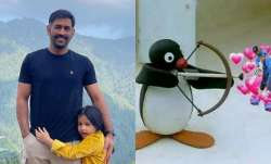 MS Dhoni's new look in handlebar moustache with daughter Ziva leaves fans excited
