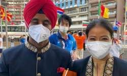 Manpreet Singh and Mary Kom