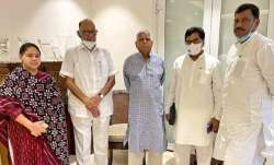 NCP Chief Sharad Pawar meets Lalu Prasad Yadav, inquires