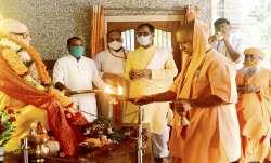UP Chief Minister Yogi Adityanath offers prayers to his