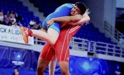 File photo of Sonam Malik (in red)