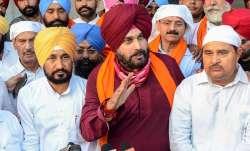 Navjot Singh Sidhu along with Charanjit Singh Channi at