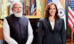 PM Narendra Modi with US Vice President Kamala Harris