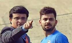 Sourav Ganguly and Virat Kohli
