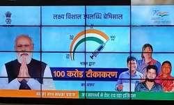 delhi metro displays message on 100 crore vaccination