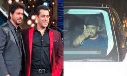 Salman Khan visits Shah Rukh Khan at Mannat after Aryan