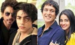 Shah Rukh Khan, Aryan Khan, Chunky Panday, Ananya Panday
