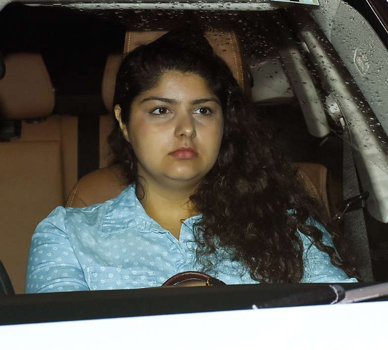 Anshula Kapoor also attended the screening to celebrate her sister Janhvi's debut in Bollywood
