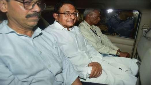 P Chidambaram arrested Wednesday night/PTI