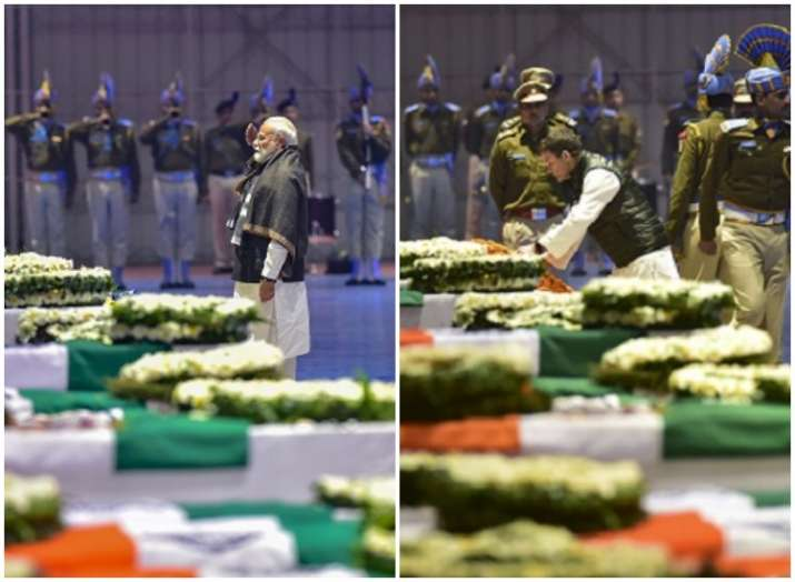 PM Modi, Rahul Gandhi paid tributes to slain CRPF men