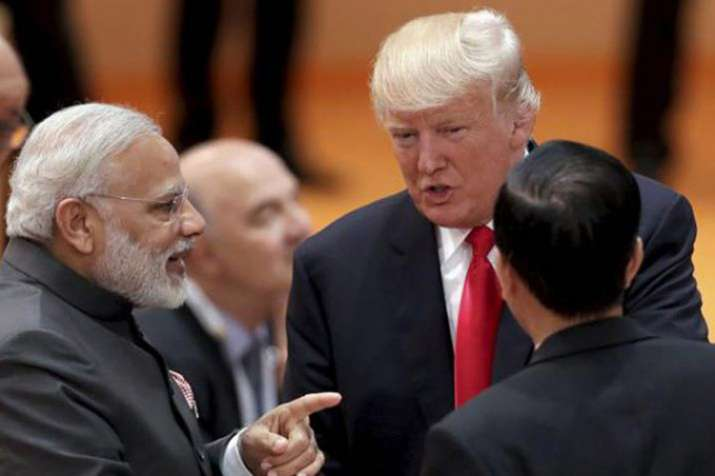 US President Donald Trump with Prime Minister Narendra