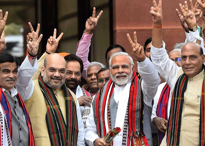 Indian PM Narendra Modi marked a dramatic election victory on May 23, thereby continuing in the offi